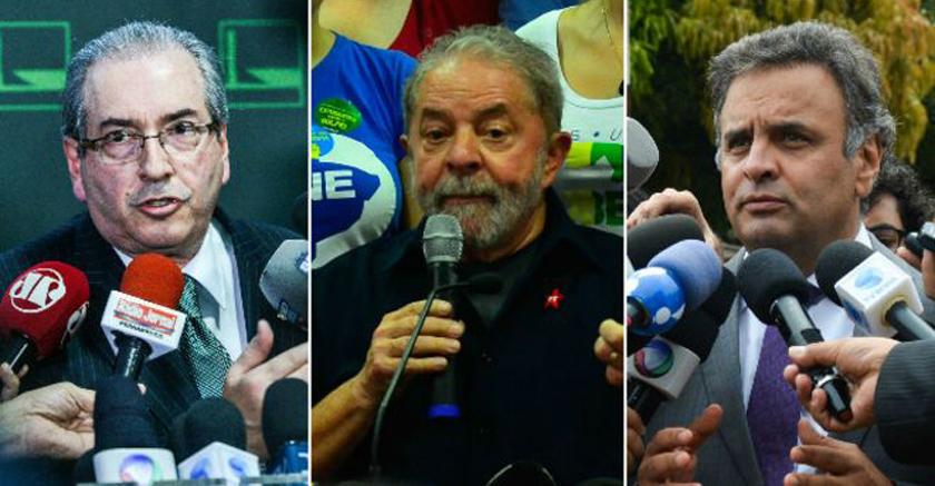 Foto de POLÍTICA. Procurador quer investigar Cunha, Lula, Aécio e mais um punhado. Tudo por conta da Lava Jato