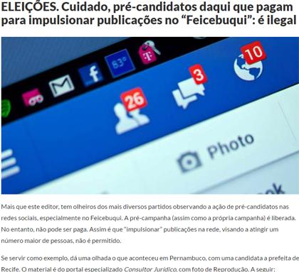 Foto de ELEIÇÕES 2016. Pré-campanha pela internet, mesmo paga, é permitida, segundo uma especialista no ramo
