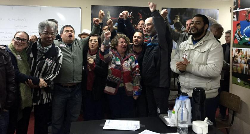 Foto de TRABALHO. Eleita a chapa da situação, no pleito que escolheu o novo comando do Sindicato dos Jornalistas
