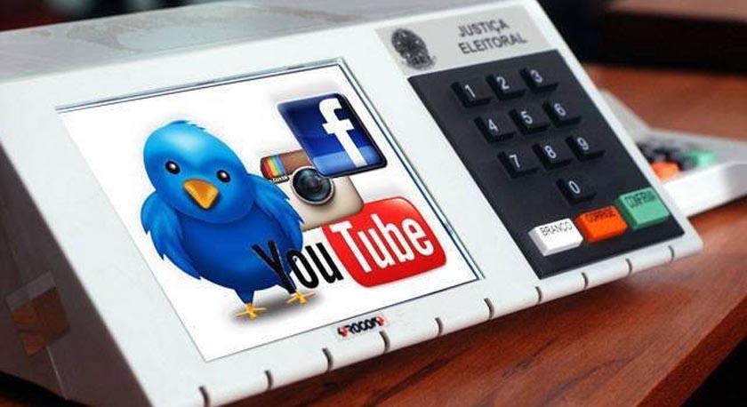 Foto de CAMPANHA. Redes sociais têm pouca influência no voto, aponta pesquisa do Datafolha e publicada na FSP