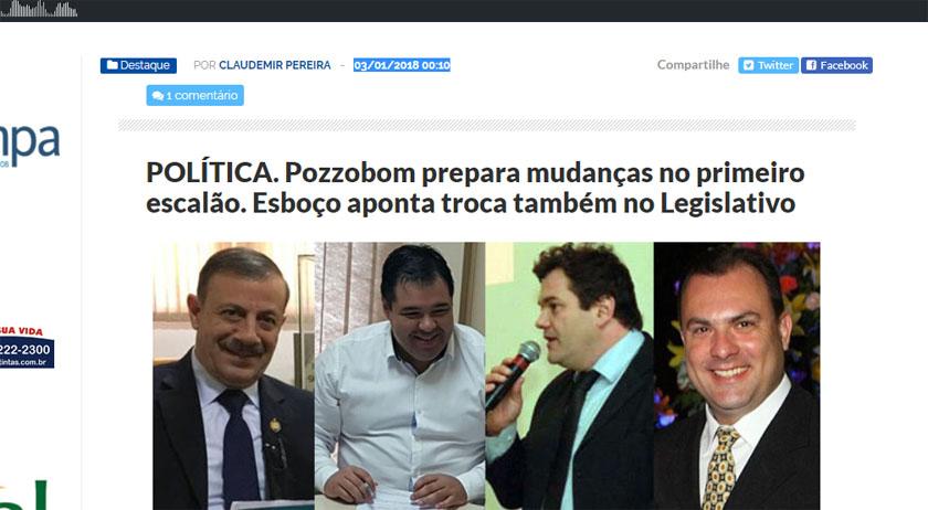 Foto de SECRETARIADO. A qualquer momento, Pozzobom anuncia mudanças antecipadas no site em 3 de janeiro