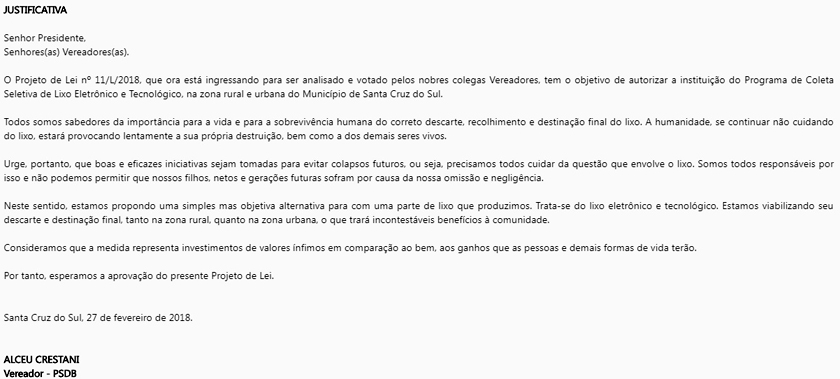 Foto de CÂMARA. Projeto de Coleta Seletiva da edil Celita foi copiado de parlamentar tucano de Santa Cruz do Sul