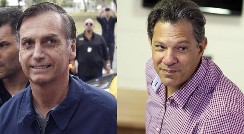 Foto de IBOPE. Bolsonaro, do PSL, 57%; Haddad, do PT, 43%