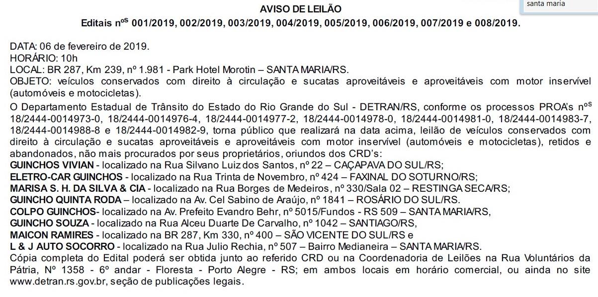 Foto de EM PRIMEIRA MÃO. Mais de 200 veículos de depósitos do Detran irão a leilão, informa Luiz Roese