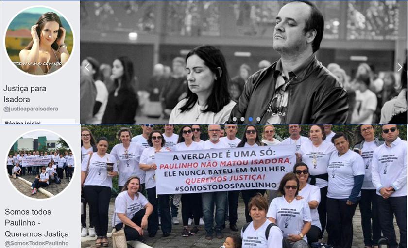 "Foto de CASO ISADORA. ""Somos todos Paulinho"" x ""Justiça para Isadora"". Famílias protagonizam embate virtual"
