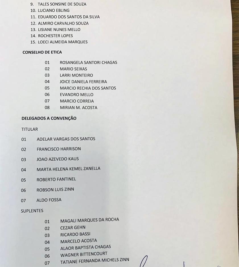 Foto de PARTIDOS. MDB santa-mariense elege Diretório e Presidente. Confira a LISTA final, com seis mudanças