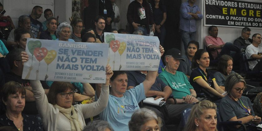 TRABALHO. Bancários ganham o apoio de vereadores de SM contra PEC que facilita privatização do Banrisul