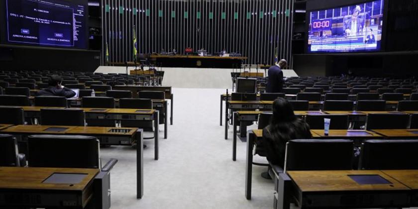 Foto de CONGRESSO. Na agenda dos deputados federais, a ajuda aos Estados e a MP do Contrato Verde Amarelo