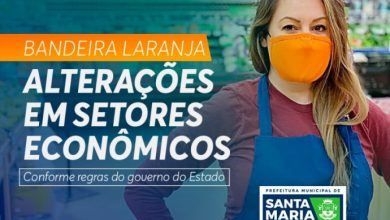 Foto de COVID-19. Sob bandeira laranja, Prefeitura de Santa Maria divulga alterações para setores econômicos