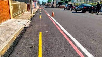 Foto de SÃO GABRIEL. Prefeitura inicia na quinta (14) implantação de ciclovia na Avenida Antônio Trilha